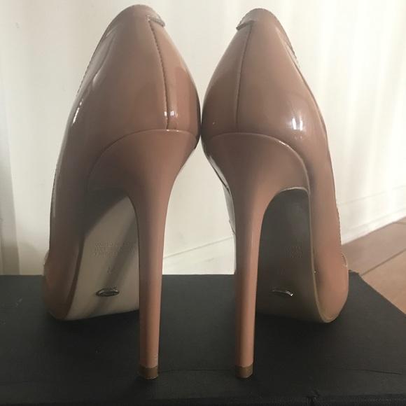 490480f554 Tony Bianco Shoes | Nude Patent Pointed Leola Size 75 | Poshmark